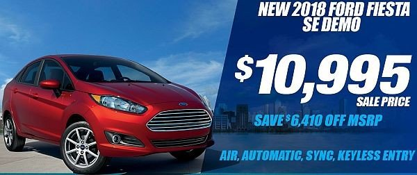 New 2018 Ford Fiesta SE Demo Available for Sale at Park Cities Ford of Dallas - Located in Dallas, TX