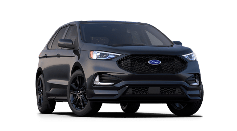 A gray 2021 Ford Edge ST.