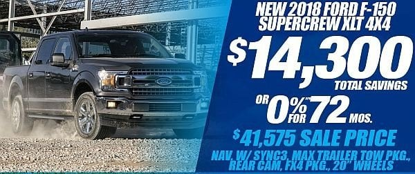 New 2018 Ford F-150 XLT 4x4 Available for Sale at Park Cities Ford of Dallas - Located in Dallas, TX