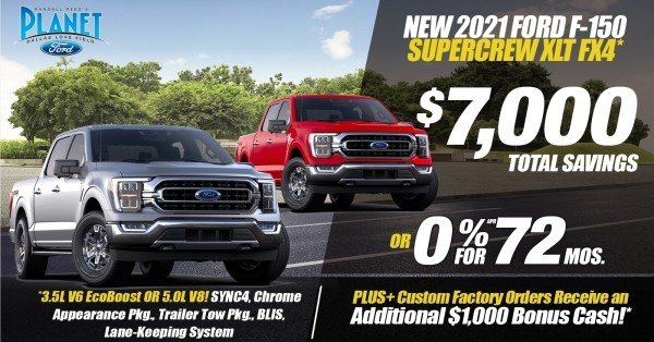 New 2021 Ford F-150 XLT FX4 for Sale at Planet Ford Dallas - Your Dallas Ford Dealer!