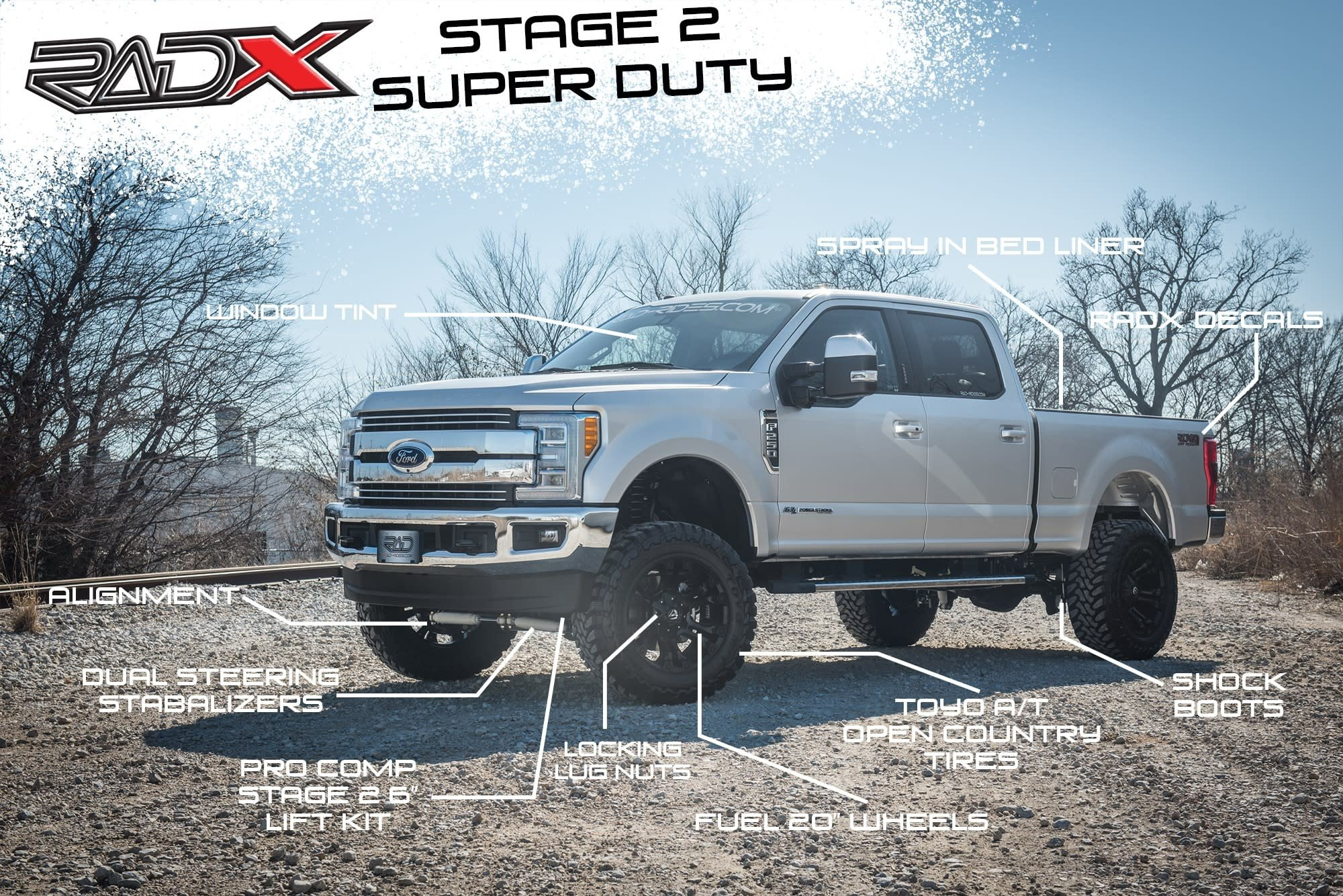 RAD Rides RADX Stage 2 Super Duty Lift Kit Package - Lifted Ford Trucks - New Lifted Ford Super Duty Trucks - Park Cities Ford of Dallas