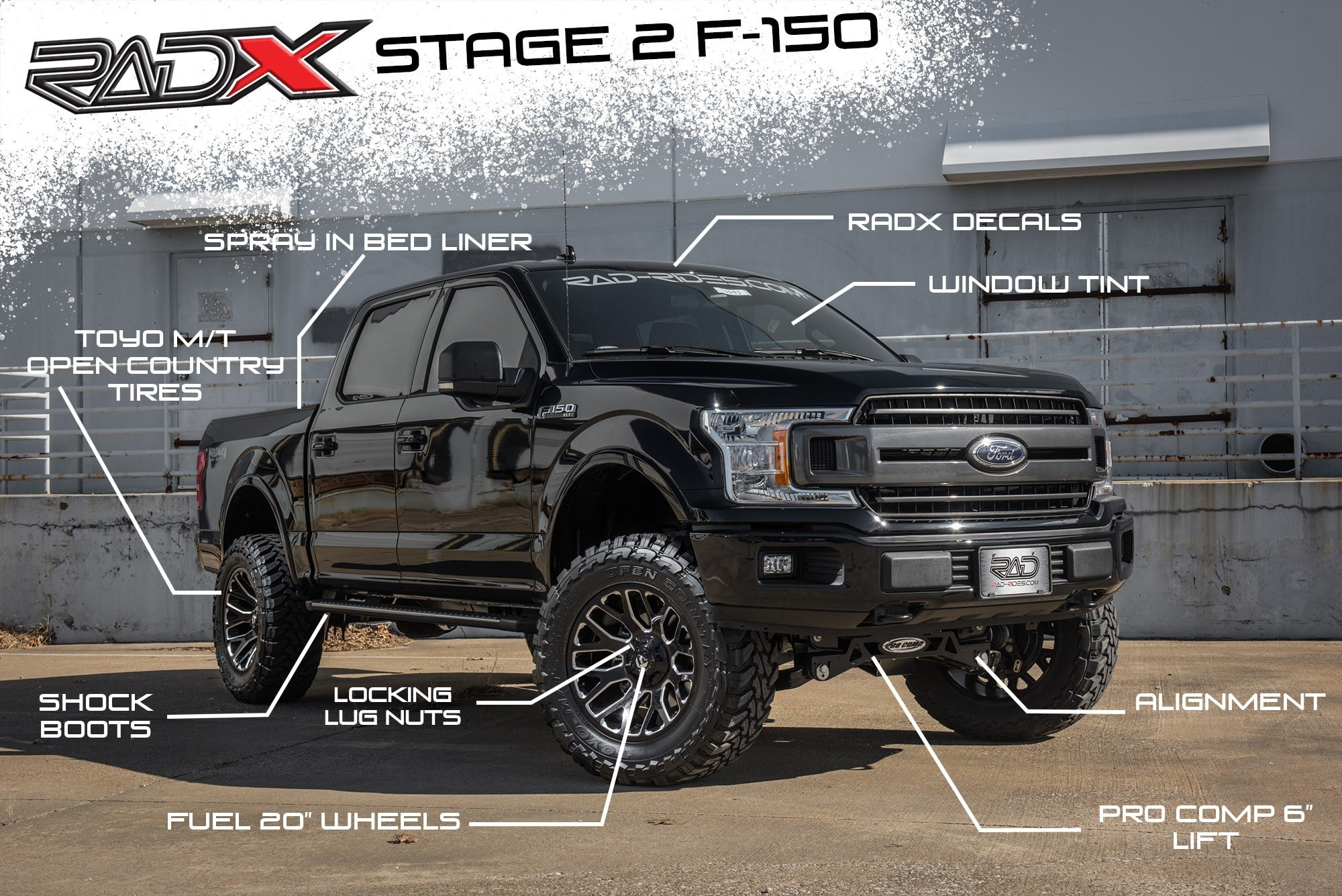 RAD Rides RADX Stage 2 F-150 Lift Kit Package - Lifted Ford Trucks - New Lifted Ford F-150 Trucks - Park Cities Ford of Dallas