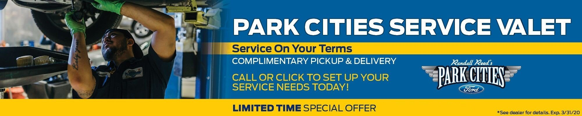 Service Valet at Park Cities Ford of Dallas - Your Dallas Ford Dealer