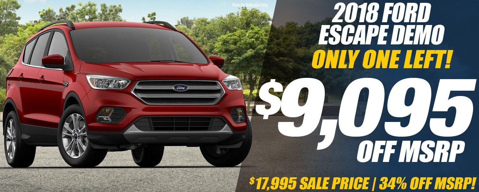 Special offer on 2018 Ford Escape NEW 2018 FORD ESCAPE SE DEMO SPECIAL