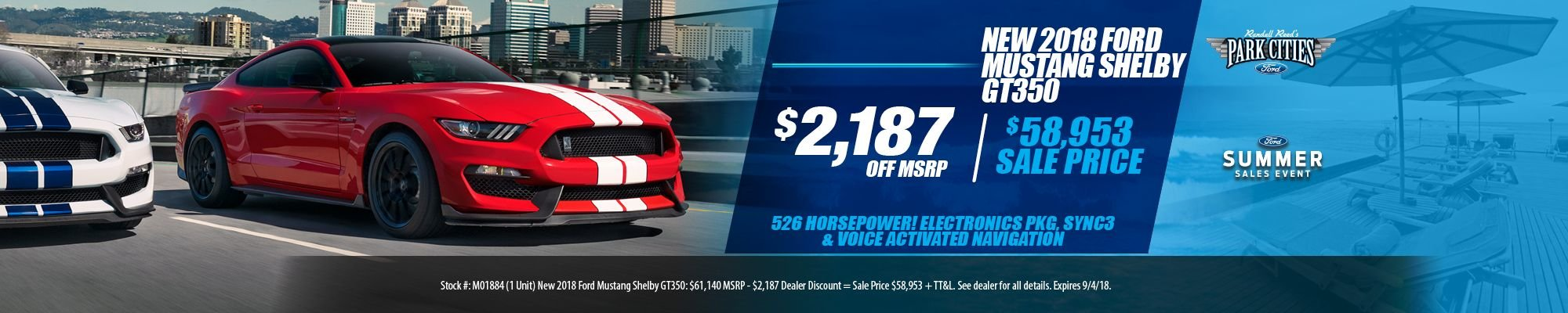 Special offer on 2018 Ford Mustang NEW 2018 FORD MUSTANG SHELBY GT350 SPECIAL!