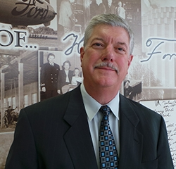 Executive Director of Service, Parts, & Body Shop Jim Privitt in Body Shop at Park Cities Ford of Dallas