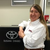 Service Writer |  Second Language: Spanish Susana Chiabo in Service & Parts at Toyota of Hackensack