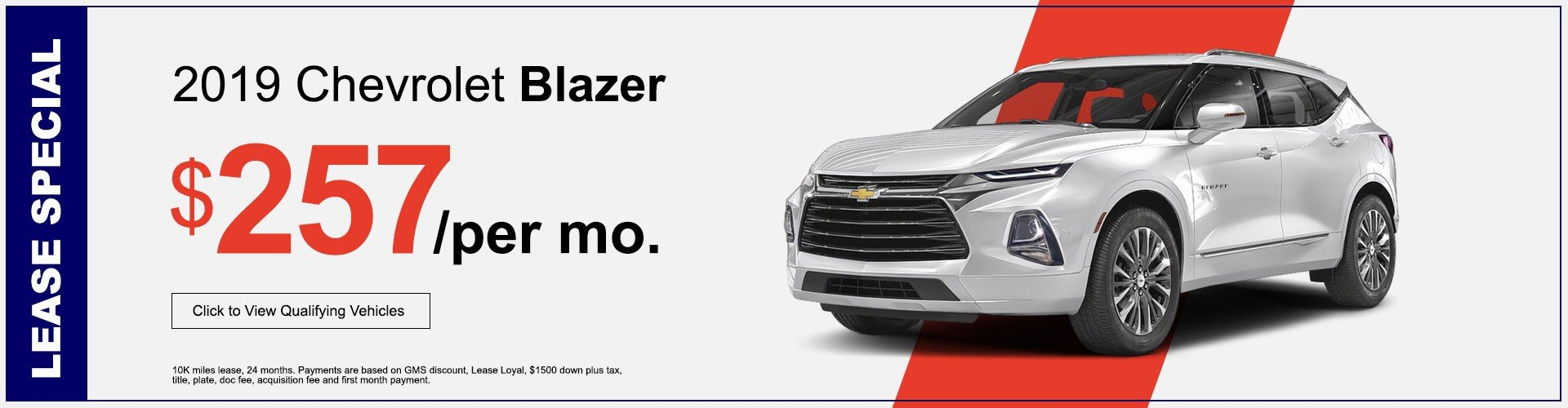 Chevrolet Blazer lease offer