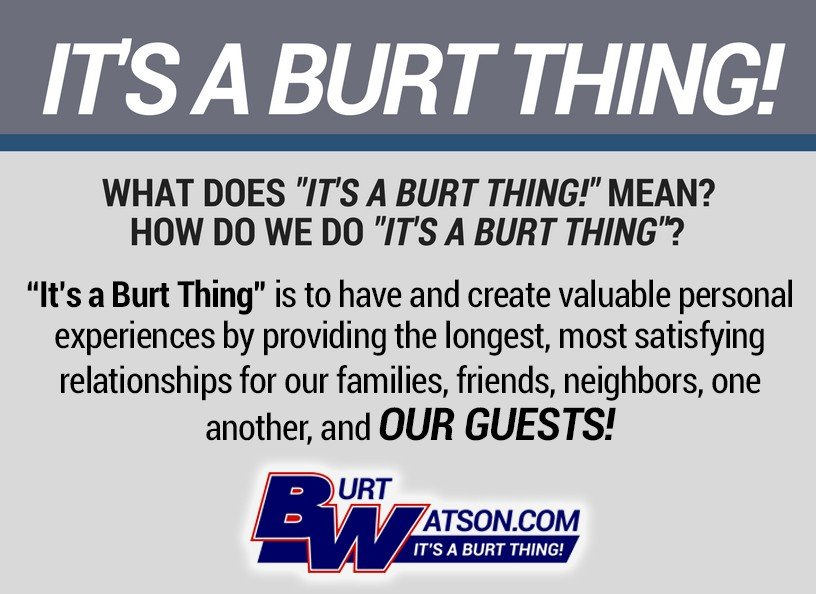 It's A Burt Thing