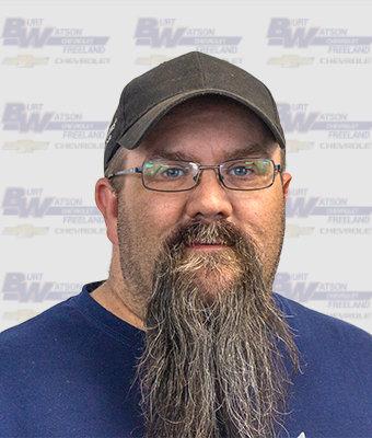 SFII Technician CHARLIE DYMOND in Service at Burt Watson Chevrolet