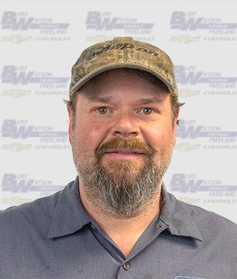 ASE Certified Master Technician JEFF SAMBORN in Service at Burt Watson Chevrolet