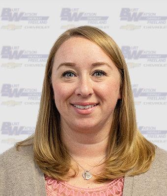 Service Manager RENEE BRISBOIS-KRANIAK in Service at Burt Watson Chevrolet