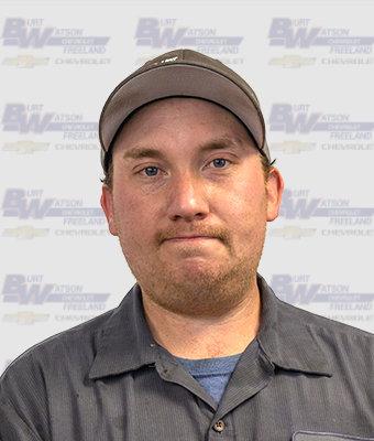 SFII Technician NATHAN NICHOLS in Service at Burt Watson Chevrolet