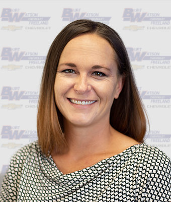 Sales & Leasing Professional Erica Unger in New Car Sales at Burt Watson Chevrolet