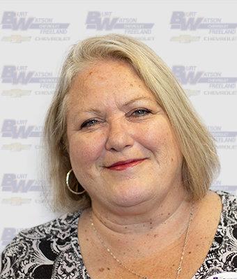 Service Business Development Center Representative Theresa Darling in Business Development at Burt Watson Chevrolet