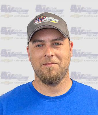 Technician JOEL FALLSTICK in Service at Burt Watson Chevrolet