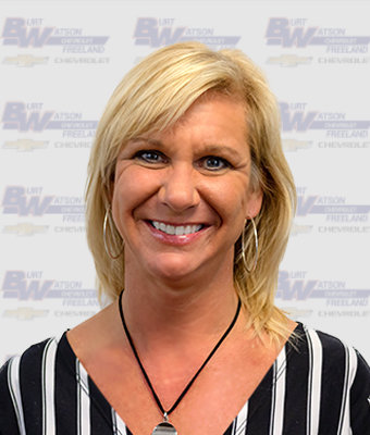 Sales & Leasing Professional TAMMY CHAFFIN in Pre-Owned Sales at Burt Watson Chevrolet