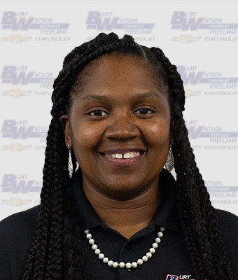 Inventory Specialist SHARQUITA CUNNINGHAM in Pre-Owned Sales at Burt Watson Chevrolet