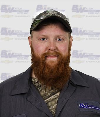 Technician John Vanderpool in Service at Burt Watson Chevrolet