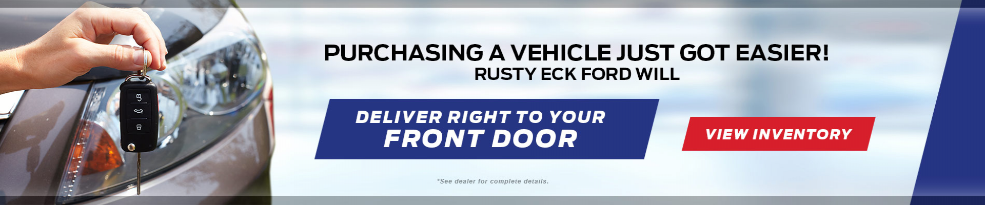 Purchasing just got easier at Rusty Eck Ford