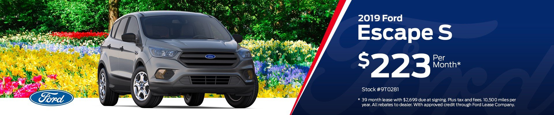 Wichita residents get a great deal on the 2019 For Escape S only at Rusty Eck Ford!