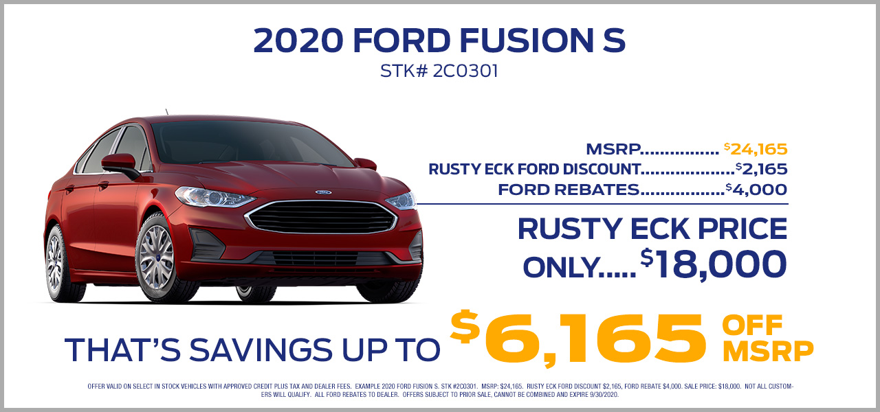 2020 ford fusion offer