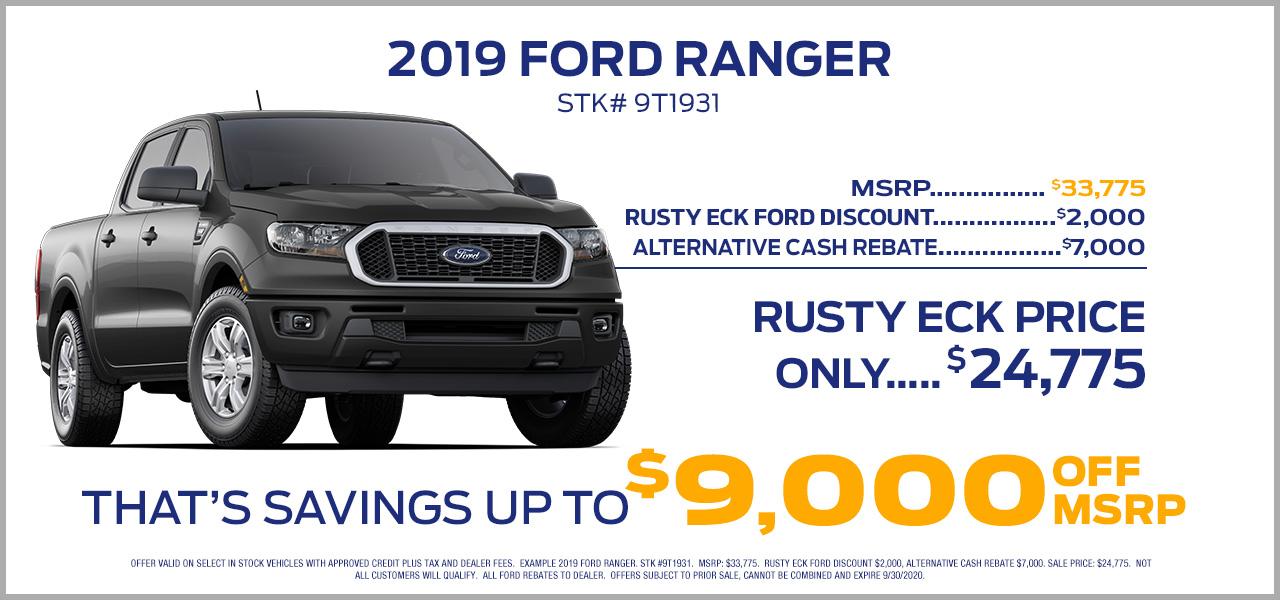 2019 ford ranger offer