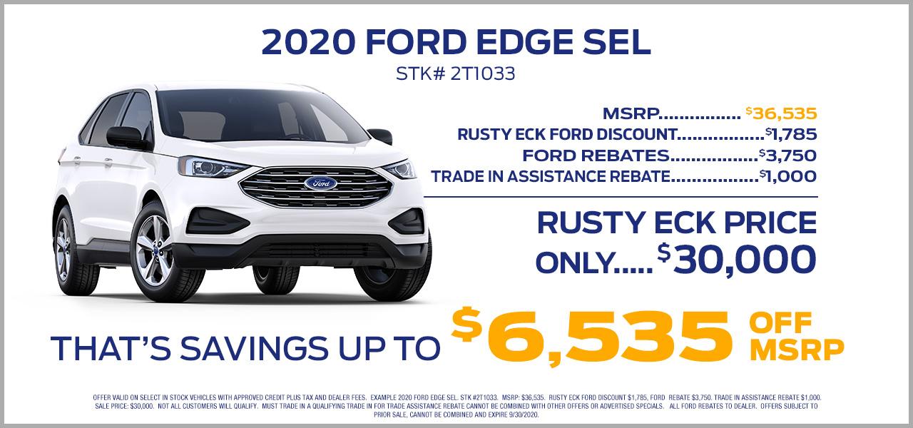 2020 ford edge offer