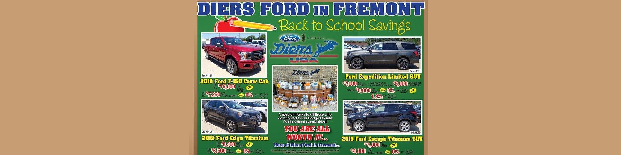 Omaha Ford Dealers >> Fremont Ford Dealer Diers Ford Used Car Dealership