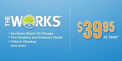 Coupon for The Works Vehicle Check-Up $39.95 or less