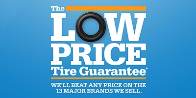 Coupon for The Low Price Tire Guarantee We'll Beat Any Price On The 13 Major Brands We Sell.