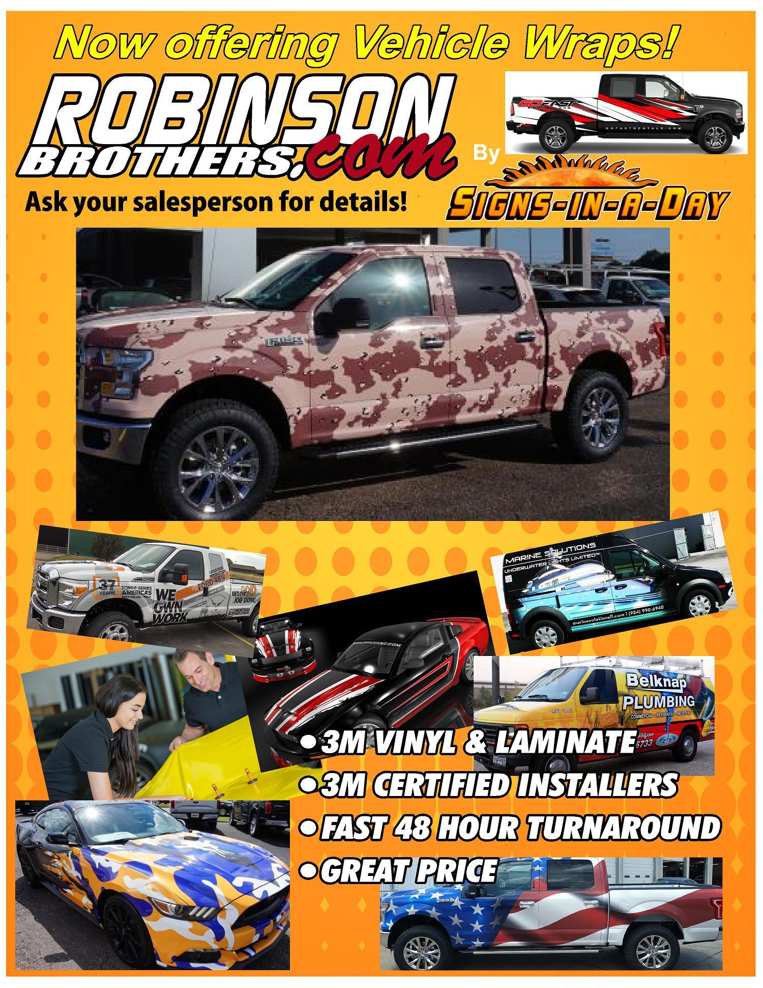 Custom Vinyl and Laminate Vehicle Wraps