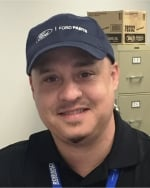 Parts Assistant Manager Ernie Babin in Parts Department at Robinson Brothers Ford