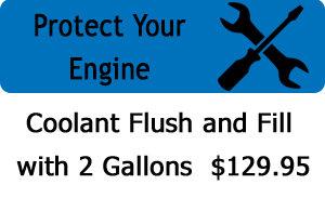 Coolant Flush  - Only $129.95