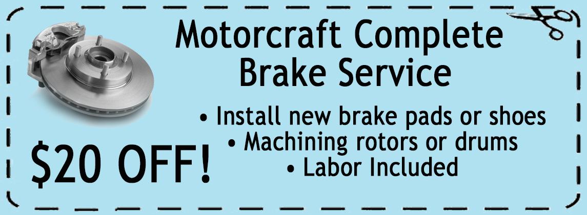 Motorscraft Complete Brake Service