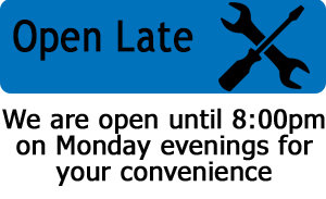 Open Late on Monday Evenings for Your Convenience