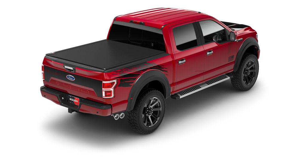 top view of a brand new f150 roush pickup truck