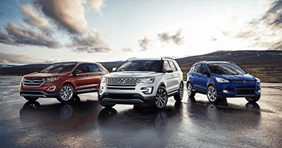 Ford SUVs for sale that include the ford edge, ford escape and ford explorer