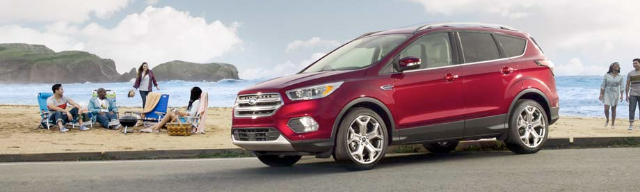 2017 red ford escape suv at our ford dealership