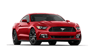 Red ford mustang gt with  5.2L V8 engine