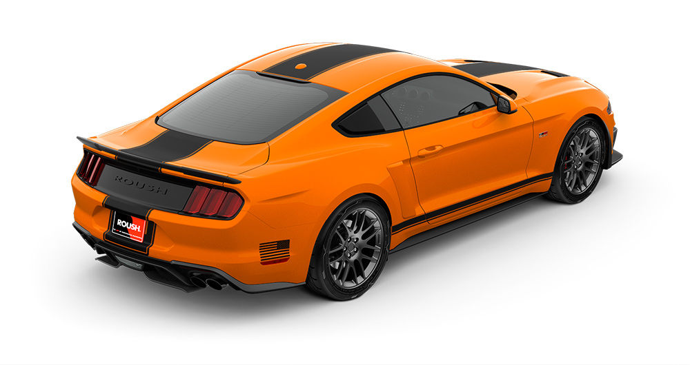 overview image of this brand new stage 2 roush mustang