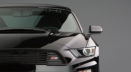roush stage 3 emblem on the front of this mustang