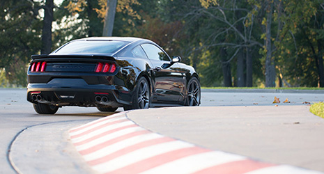 stage 3 roush mustang on a race track in clinton il