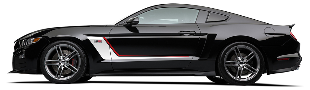 driver side view of a brand new roush stage 3 mustang