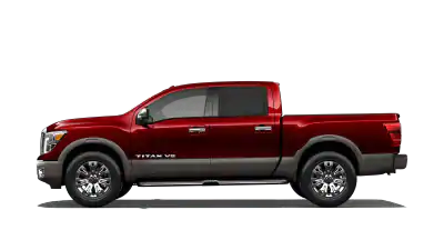 red nissan titan