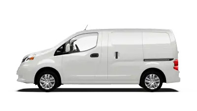white nissan nv200