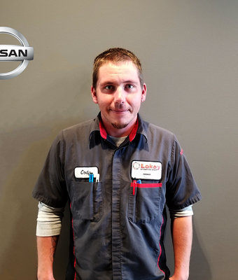 Service Technician CODY CARTER in Service at Lokey Nissan