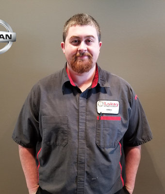 Service Technician JAMES GRAY in Service at Lokey Nissan