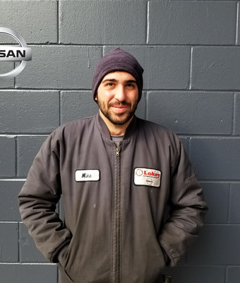 Service Technician MIKE CARLESIMO in Service at Lokey Nissan