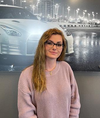 BDC Coordinator Kara Kurkowski in Service at Lokey Nissan